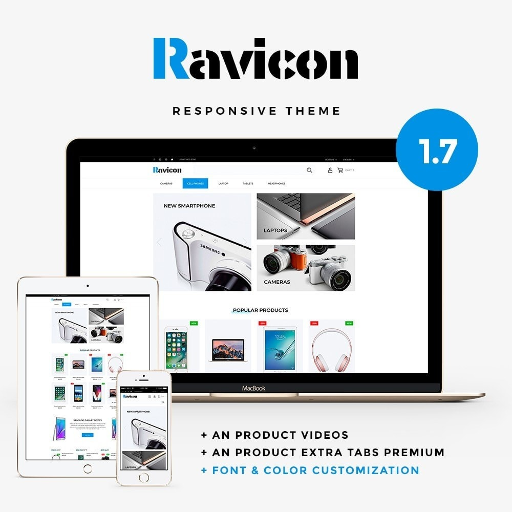 theme - Electronics & Computers - Ravicon - High-tech Shop - 1