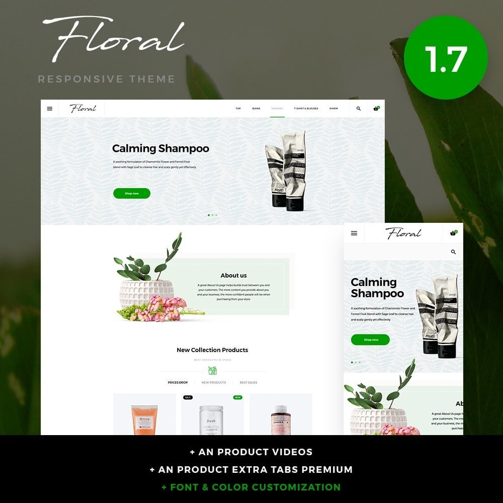 theme - Health & Beauty - Floral Cosmetics - 1