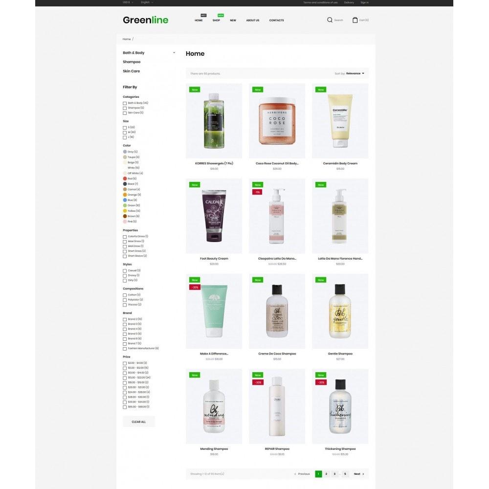 theme - Zdrowie & Uroda - Greenline Cosmetics - 5