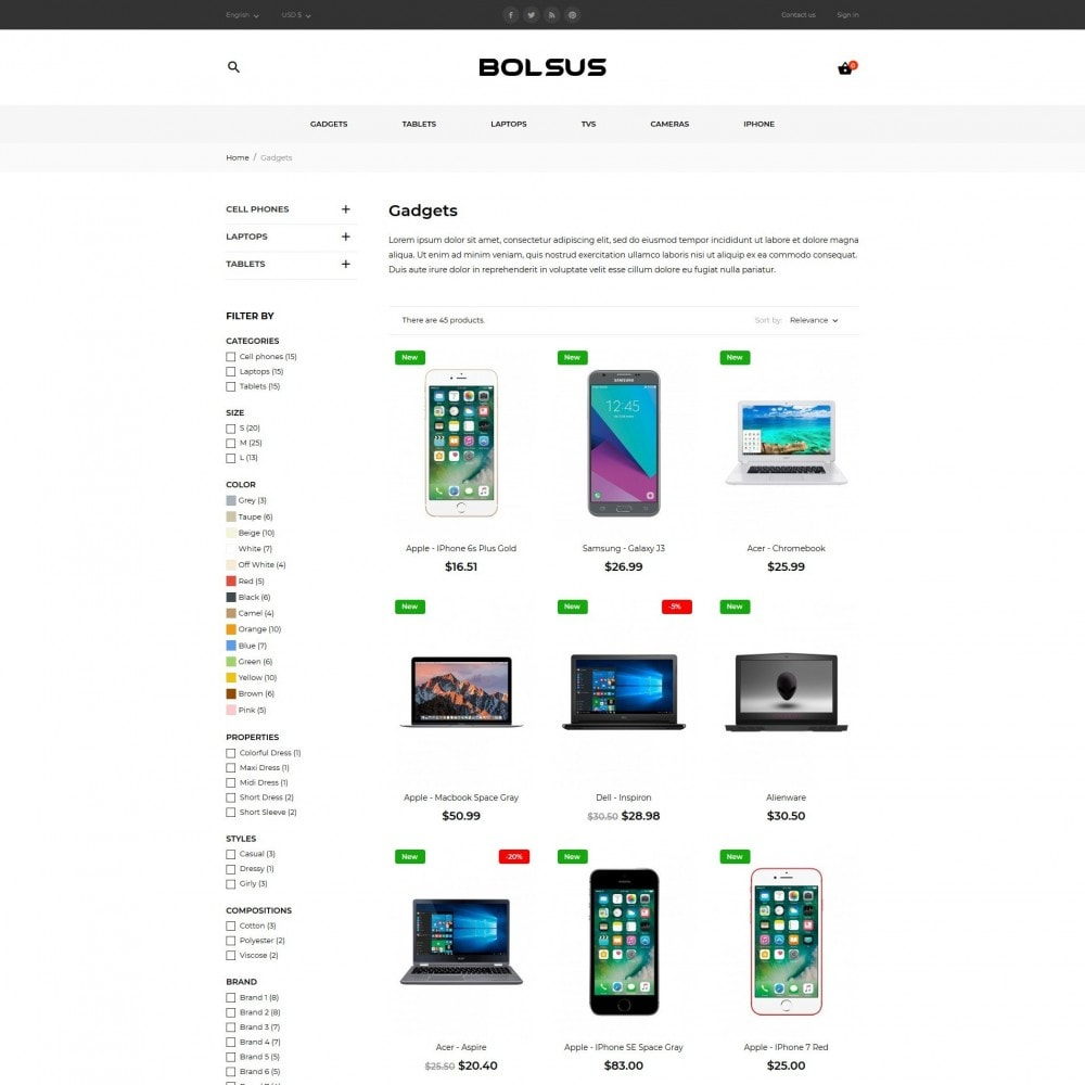 theme - Elektronica & High Tech - Bolsus - High-tech Shop - 6