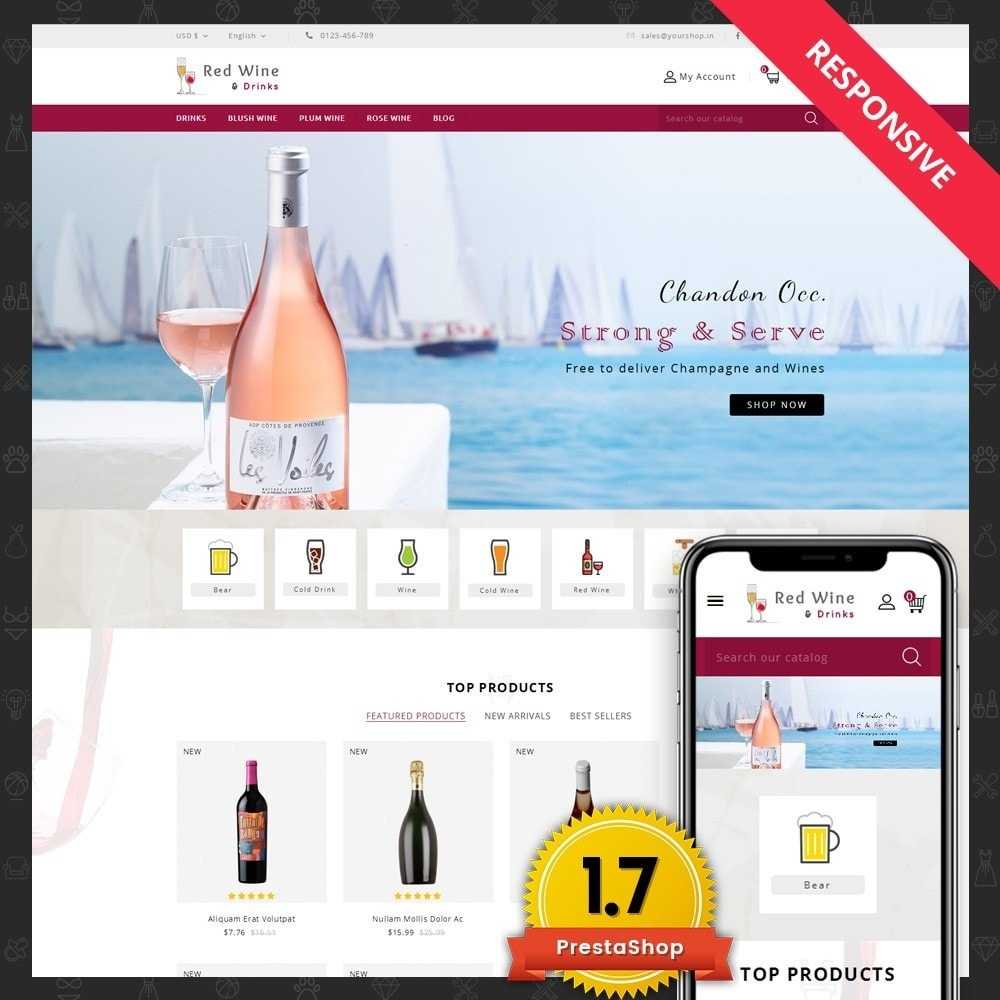 theme - Getränke & Tabak - Red Wine Online Store - 1