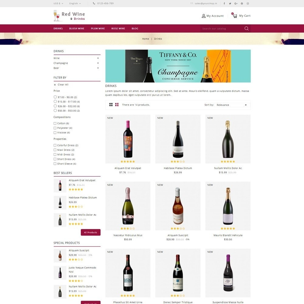 theme - Getränke & Tabak - Red Wine Online Store - 3
