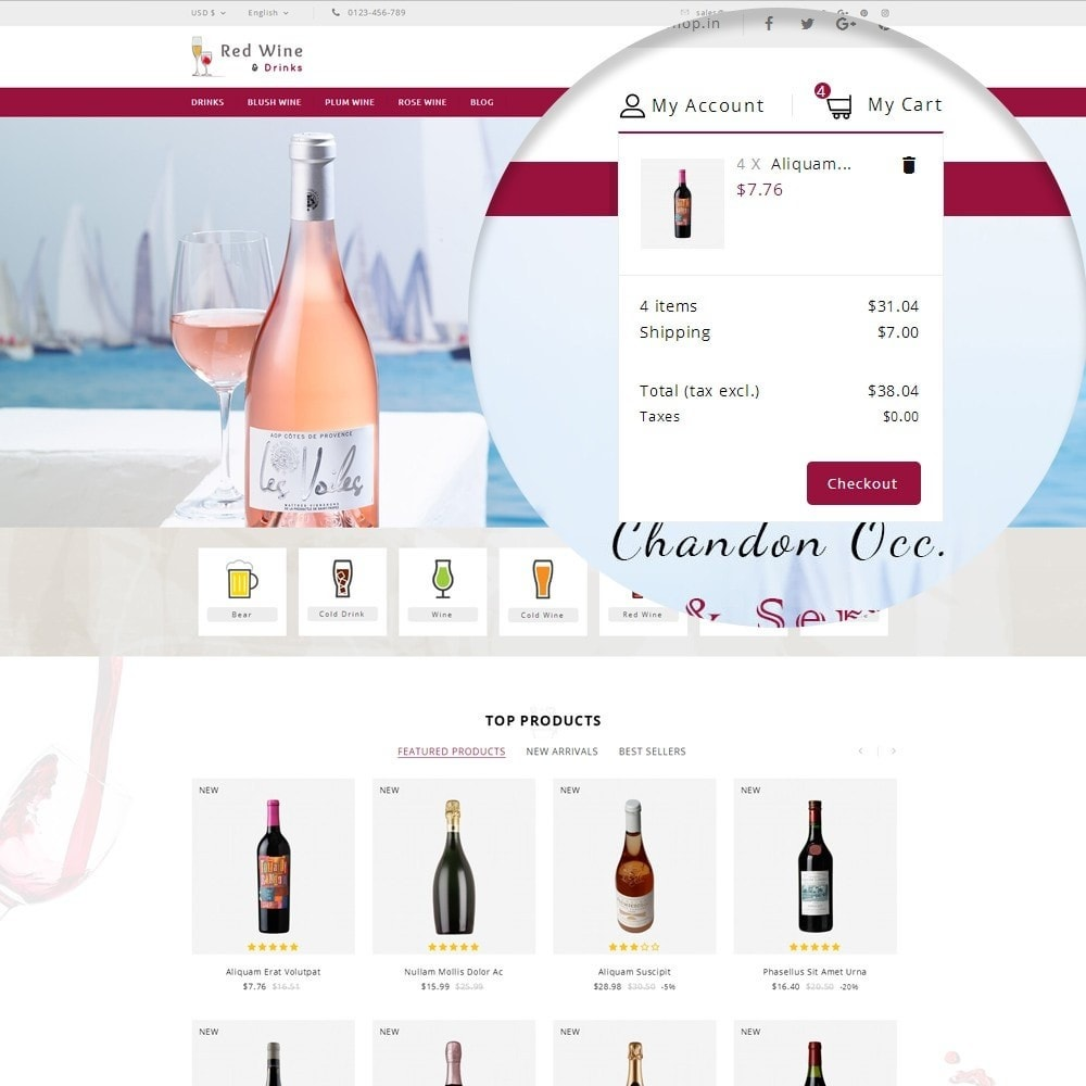 theme - Getränke & Tabak - Red Wine Online Store - 9