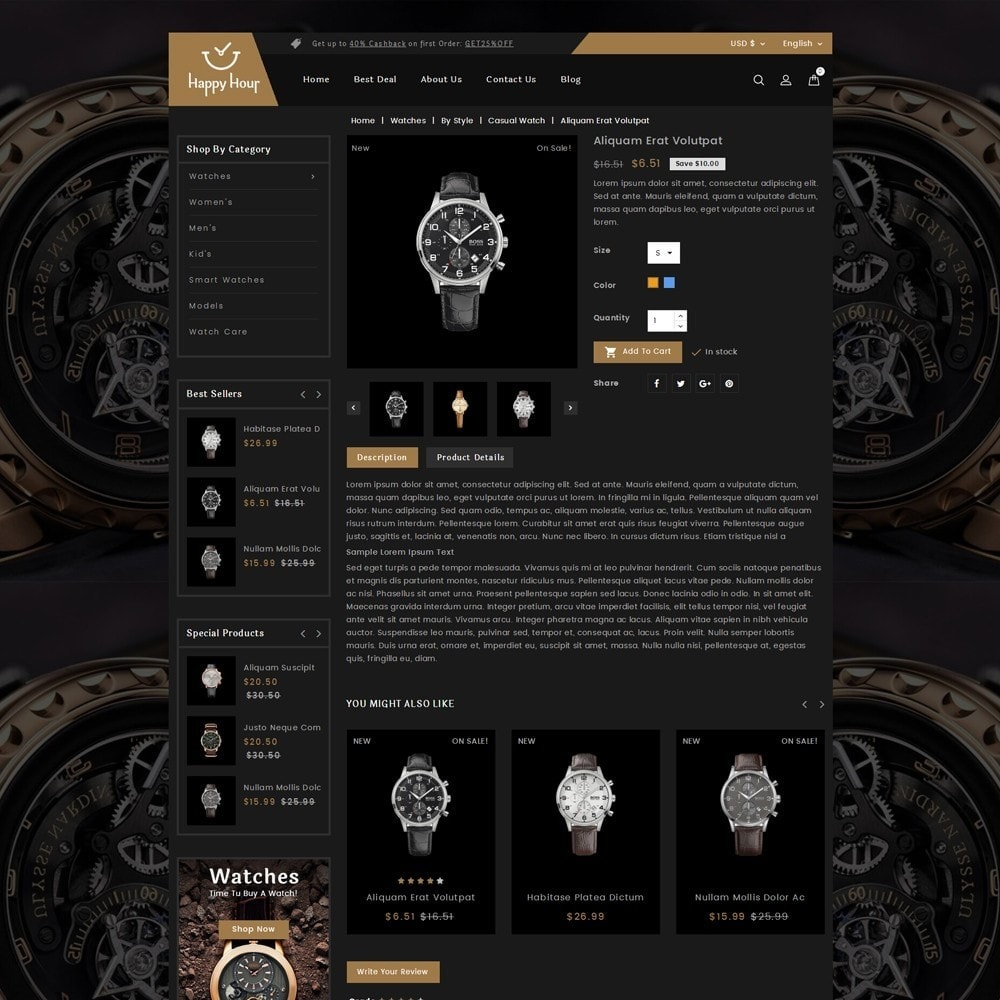 theme - Biżuteria & Akcesoria - Happy Hour Watch Store - 4