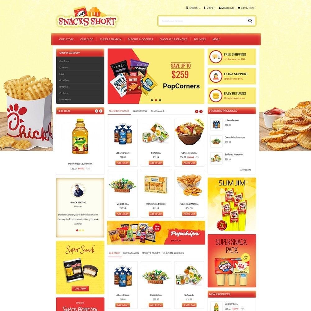 theme - Żywność & Restauracje - Snacksshort Food Store - 2