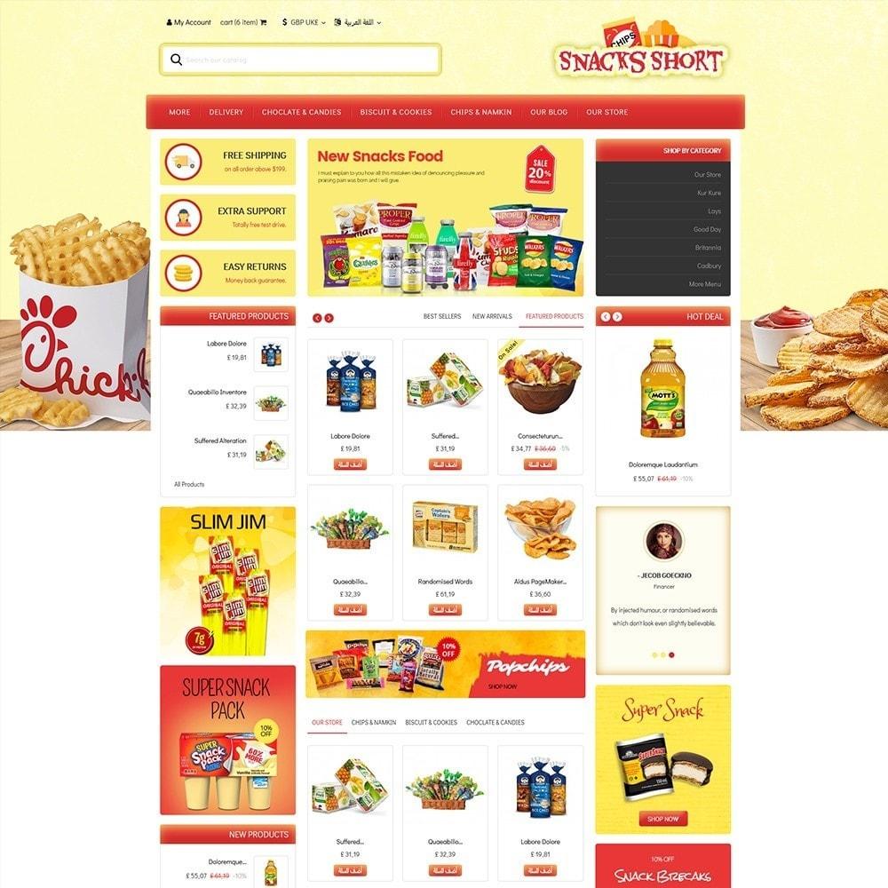 theme - Żywność & Restauracje - Snacksshort Food Store - 3