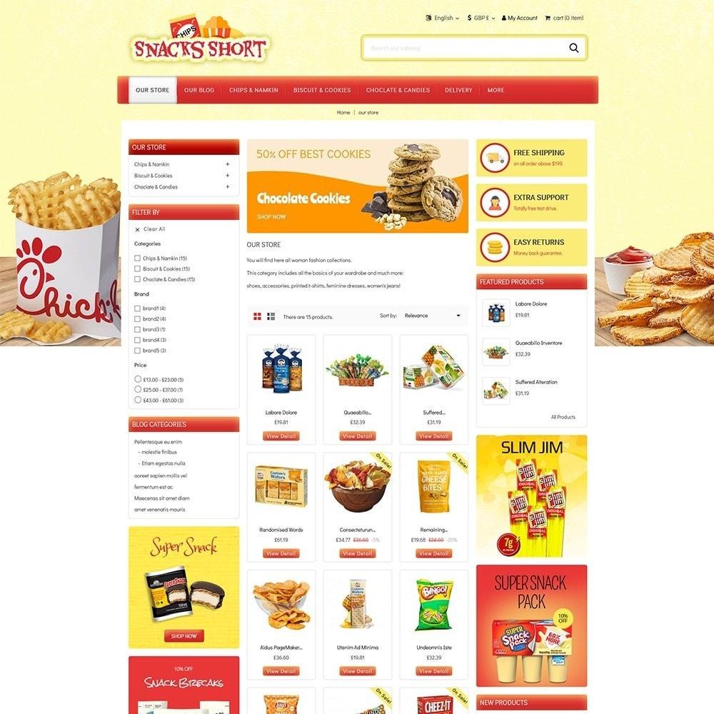 theme - Żywność & Restauracje - Snacksshort Food Store - 4