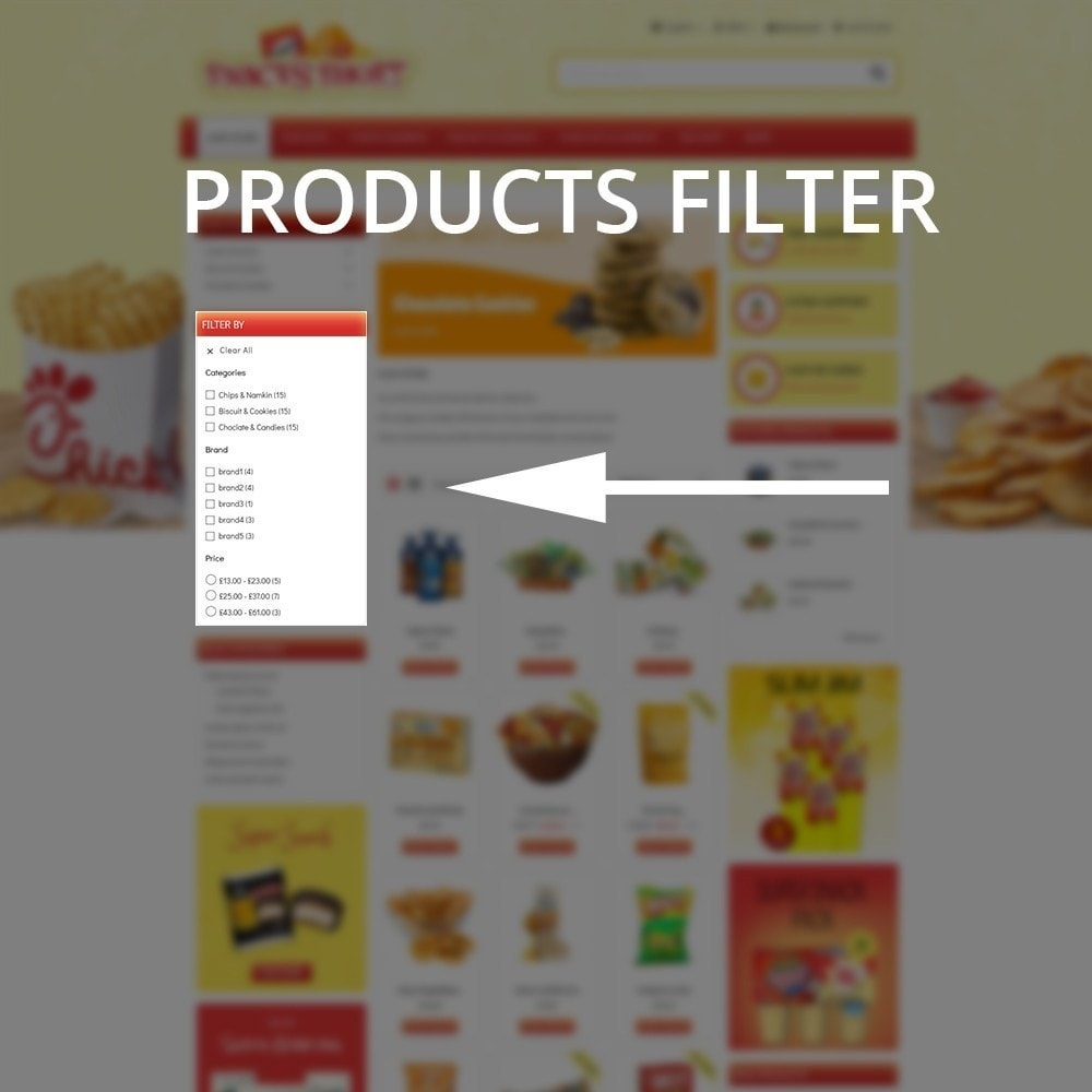 theme - Lebensmittel & Restaurants - Snacksshort Food Store - 6