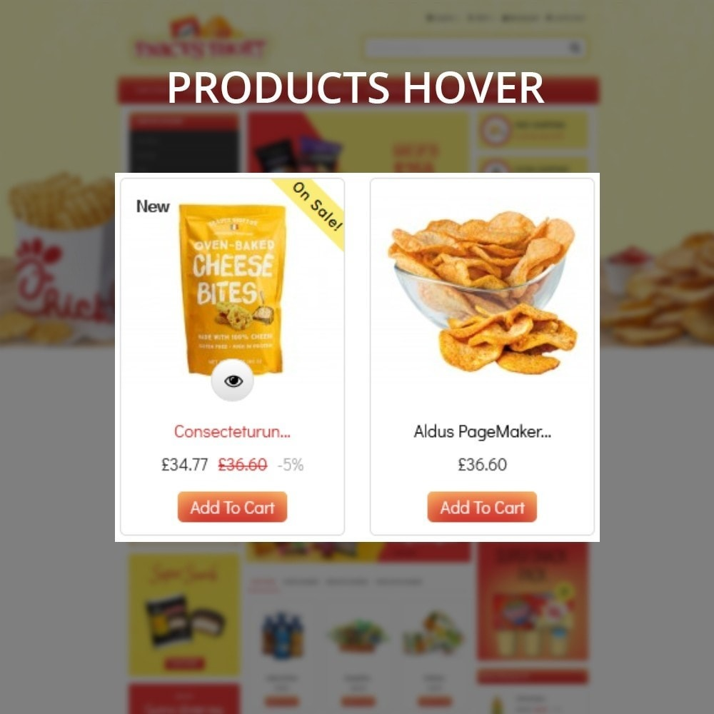 theme - Lebensmittel & Restaurants - Snacksshort Food Store - 9