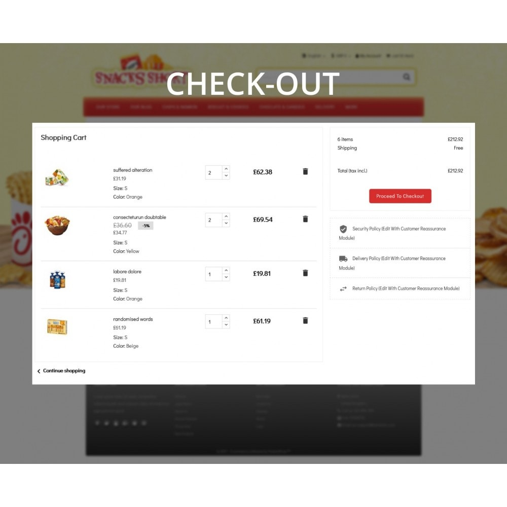 theme - Lebensmittel & Restaurants - Snacksshort Food Store - 10