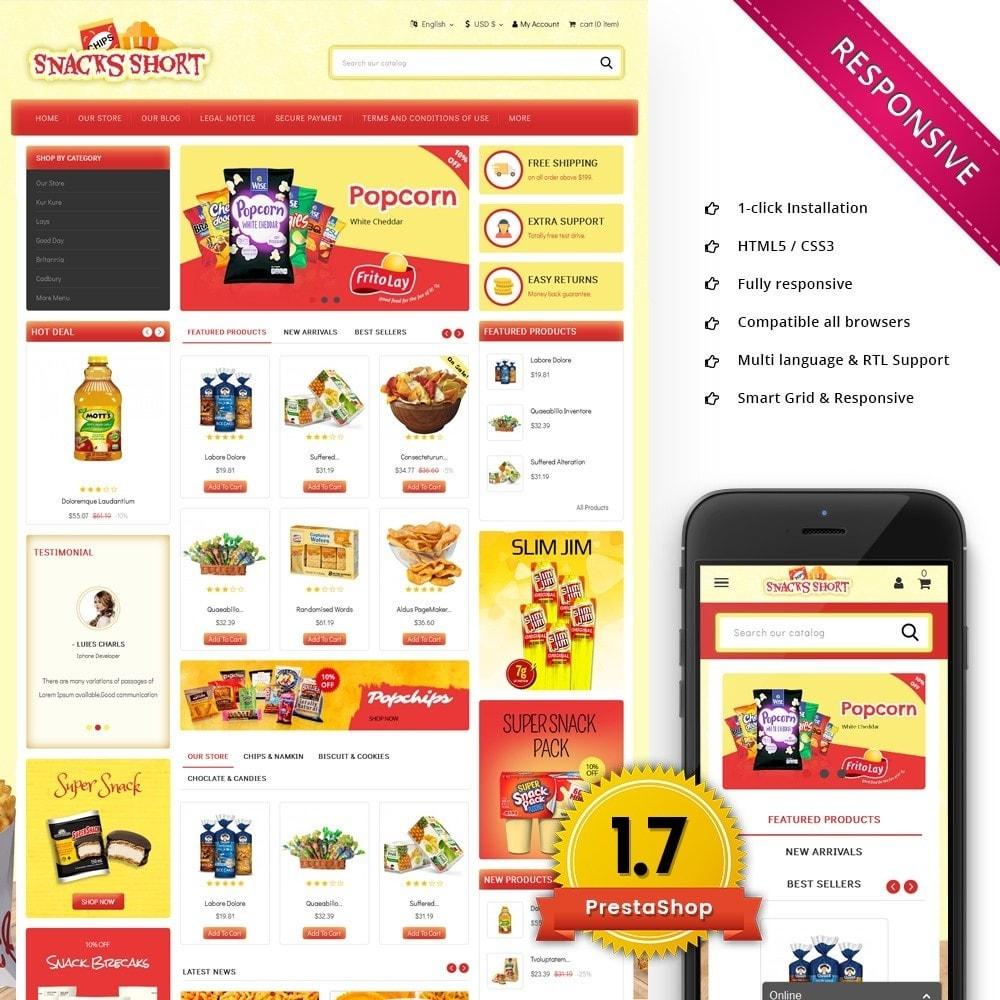 theme - Lebensmittel & Restaurants - Snacksshort Food Store - 1