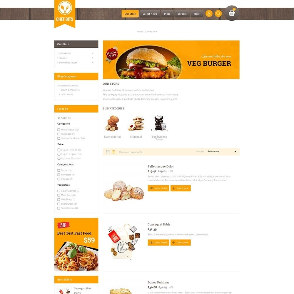 theme - Alimentation & Restauration - Chefbits Foot Store - 5