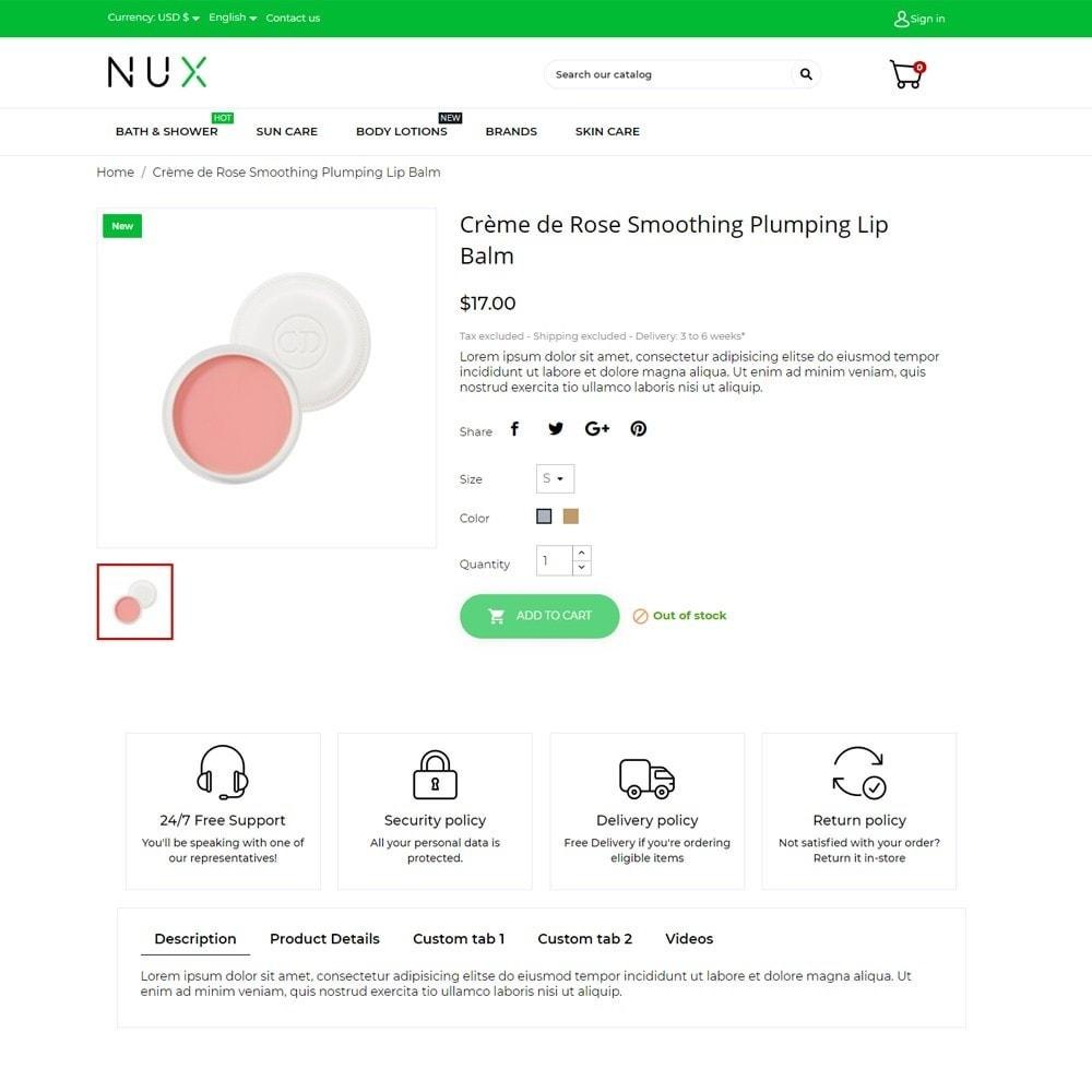 theme - Здоровье и красота - Nux Cosmetics - 5