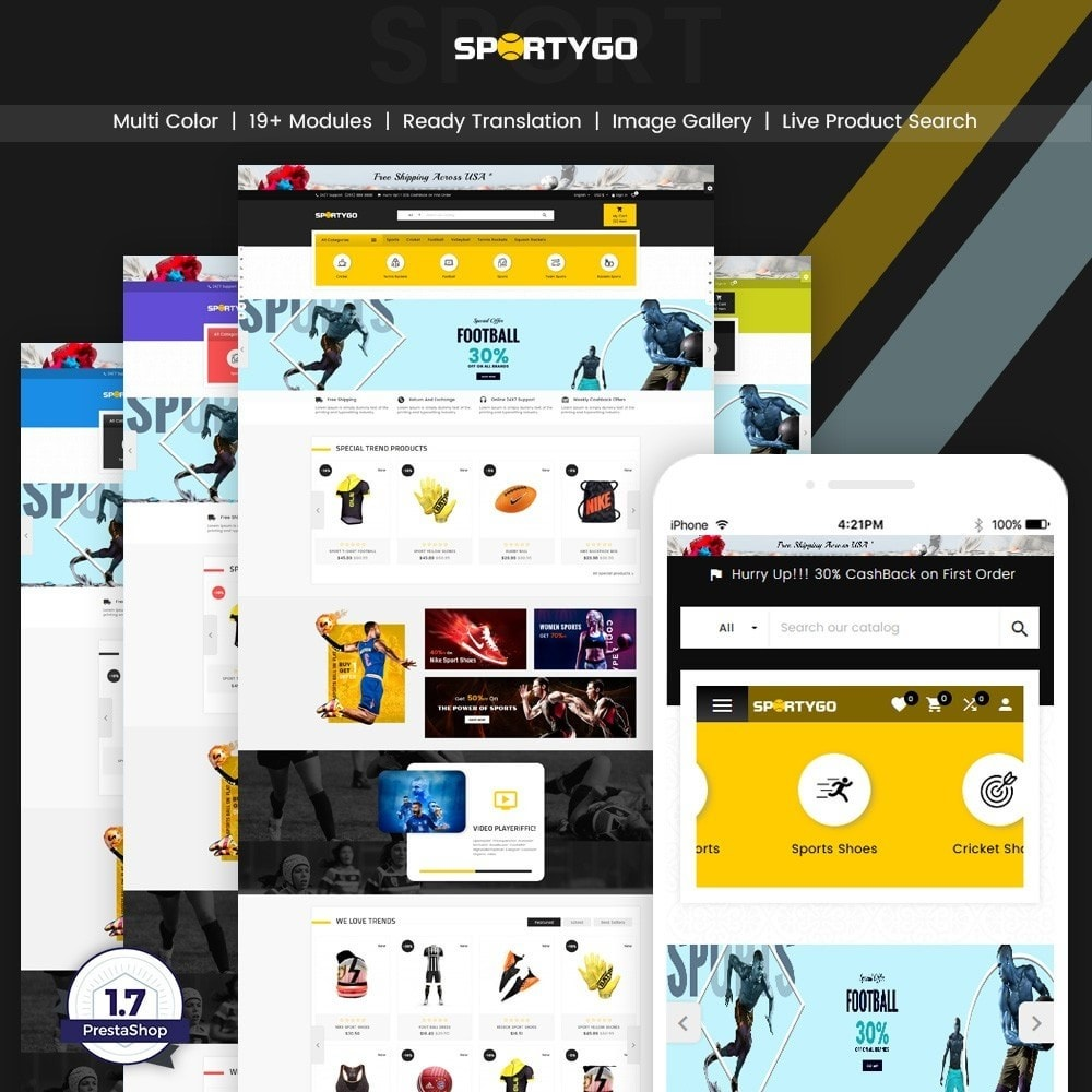 theme - Sports, Activities & Travel - SportyGo– Sport Super Store - 1
