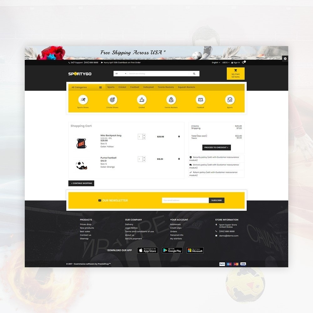 theme - Sports, Activities & Travel - SportyGo– Sport Super Store - 5