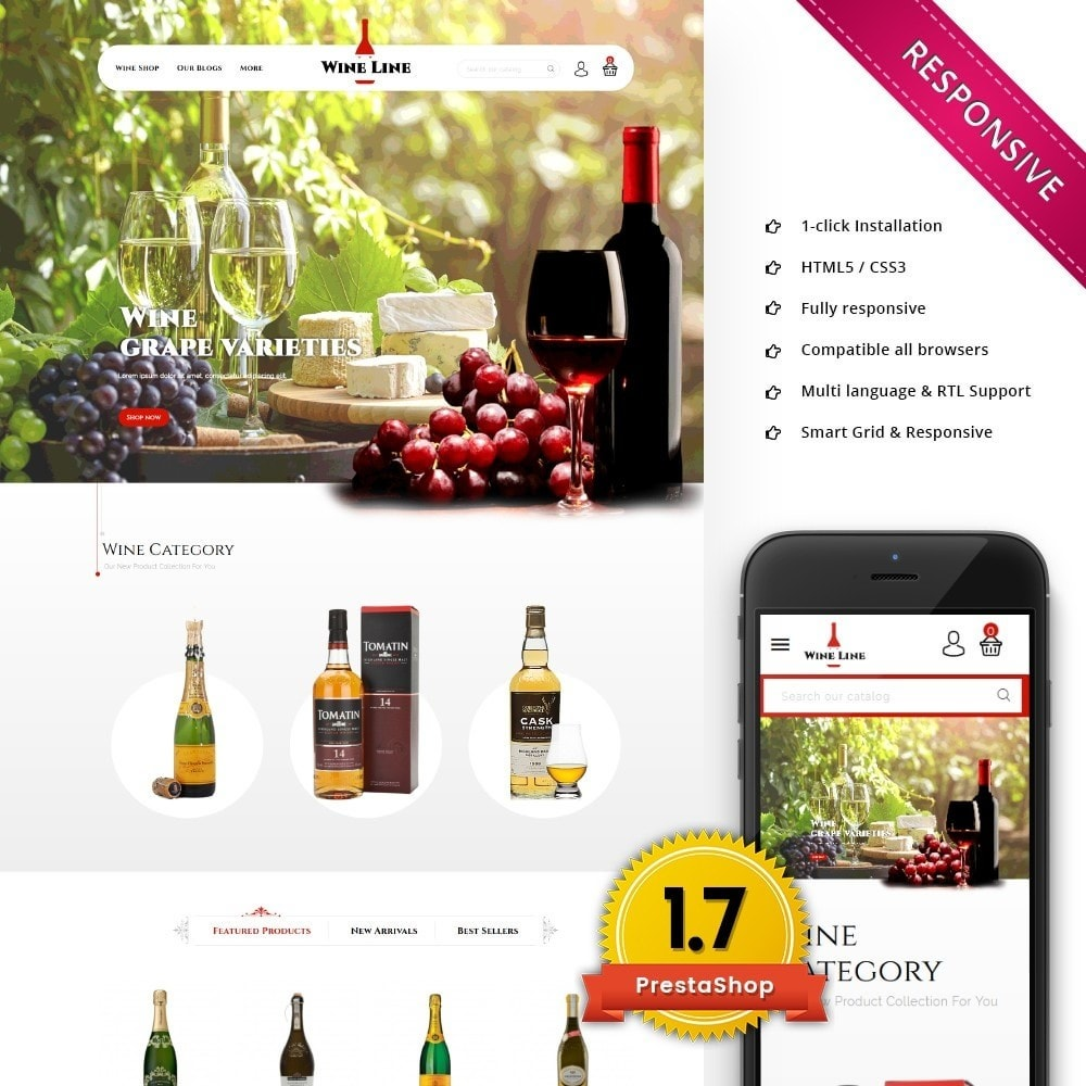 theme - Drink & Tobacco - Wineline - Alcohol Shop - 1