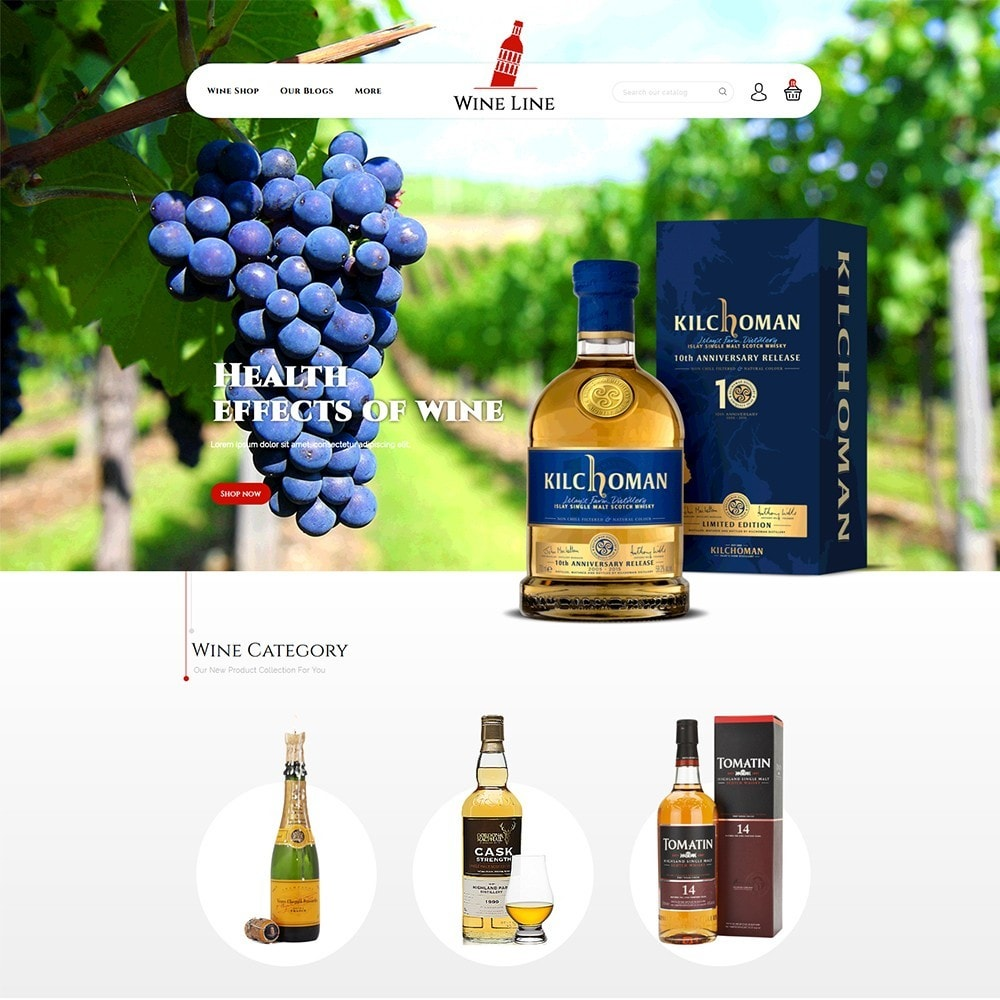 theme - Drink & Wine - Wineline - Alcohol Shop - 2