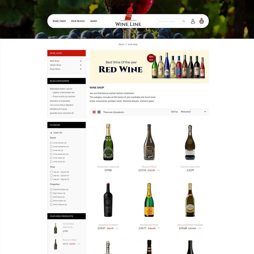 theme - Drink & Tobacco - Wineline - Alcohol Shop - 4