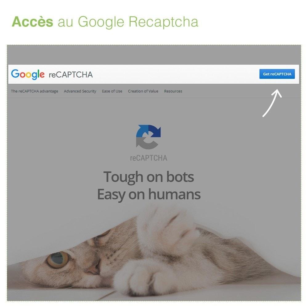 module - Sécurité & Accès - Captcha - reCaptcha - Anti Spam Protection - 7
