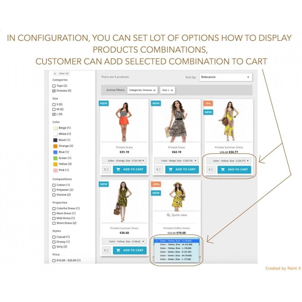 module - Versies & Personalisering van producten - Show Combinations Or Product Attributes In Product List - 1