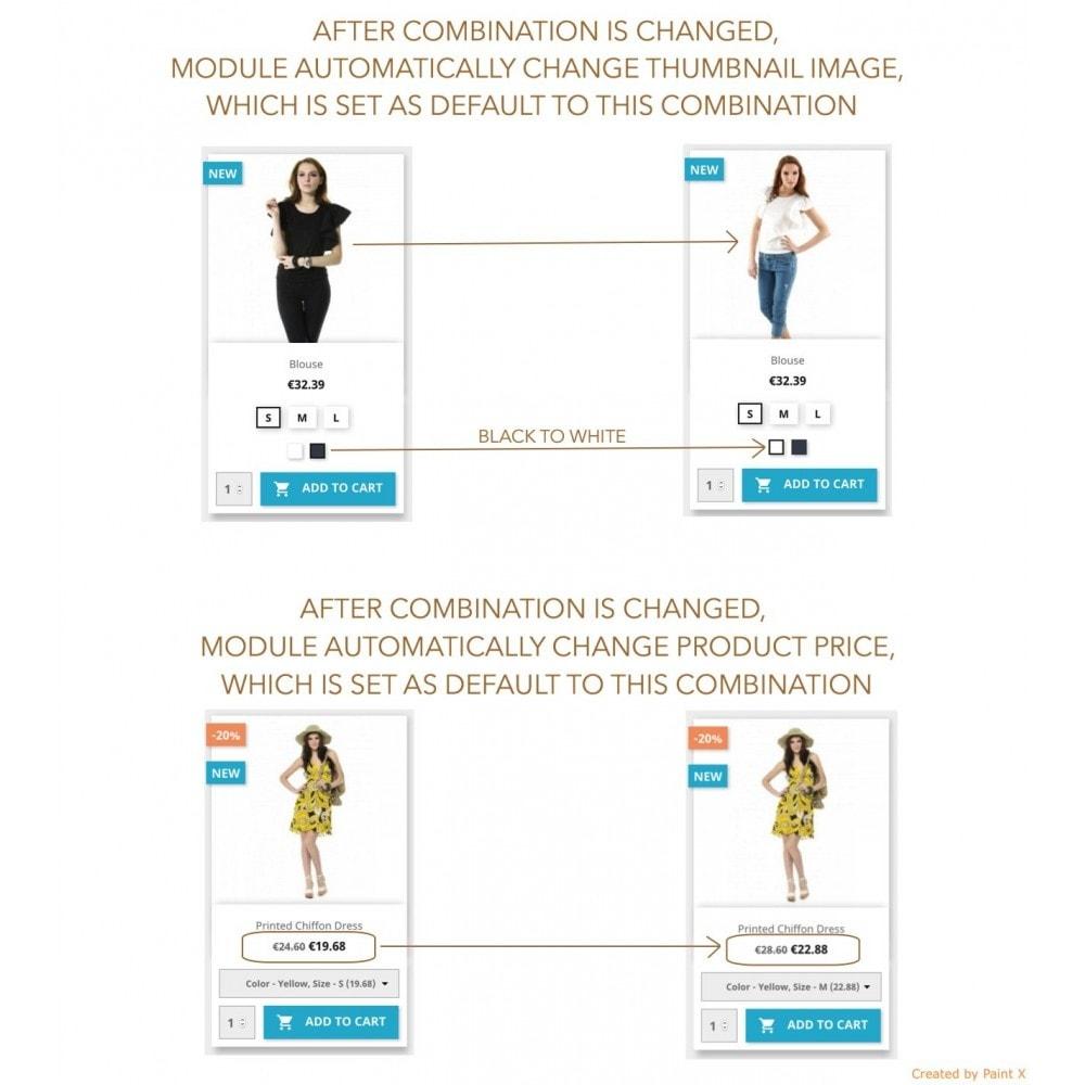 module - Versies & Personalisering van producten - Show Combinations Or Product Attributes In Product List - 2