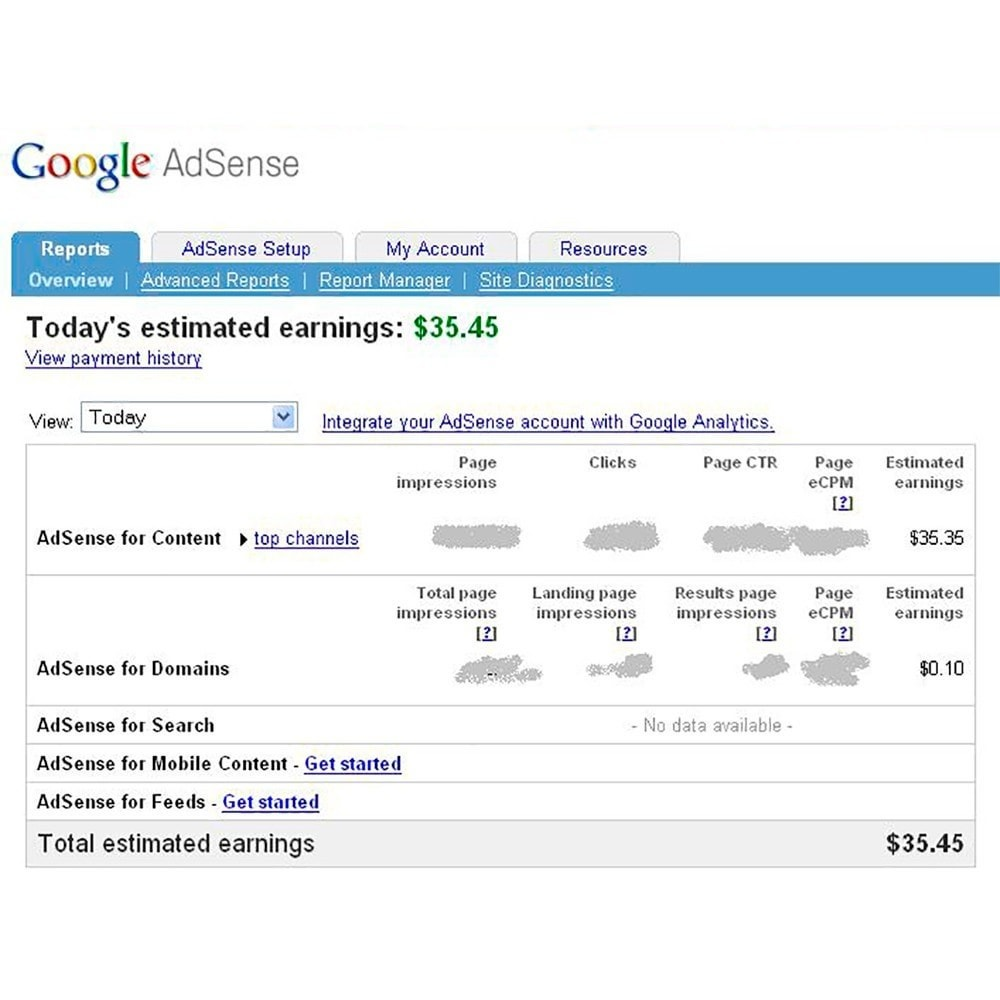 module - Informes y Estadísticas - Integration Google AdSense - 4