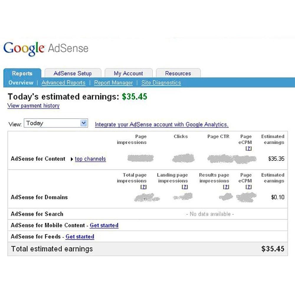 module - Analytics & Statistics - Integration Google AdSense - 4