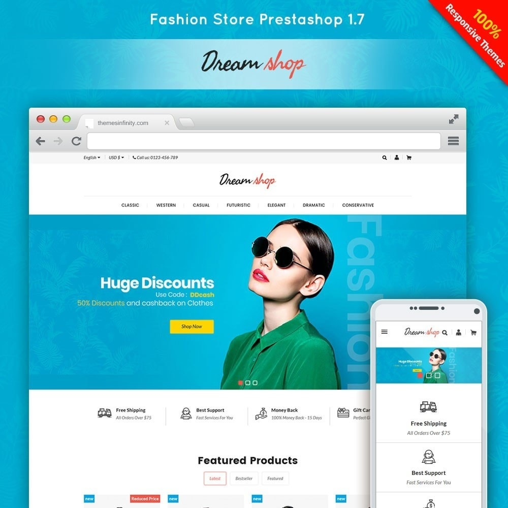 theme - Moda y Calzado - Dreamshop - Fashion Online Store - 1