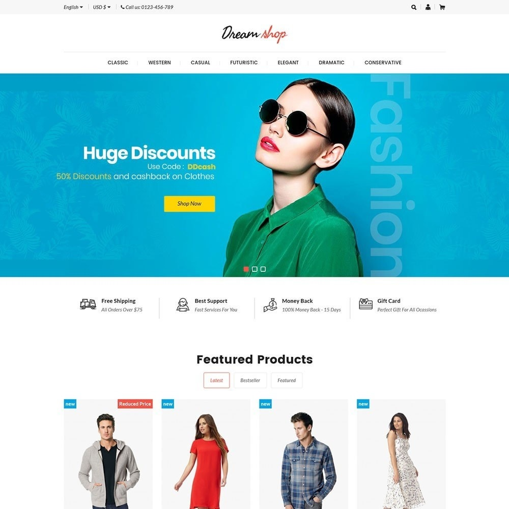 theme - Moda y Calzado - Dreamshop - Fashion Online Store - 2