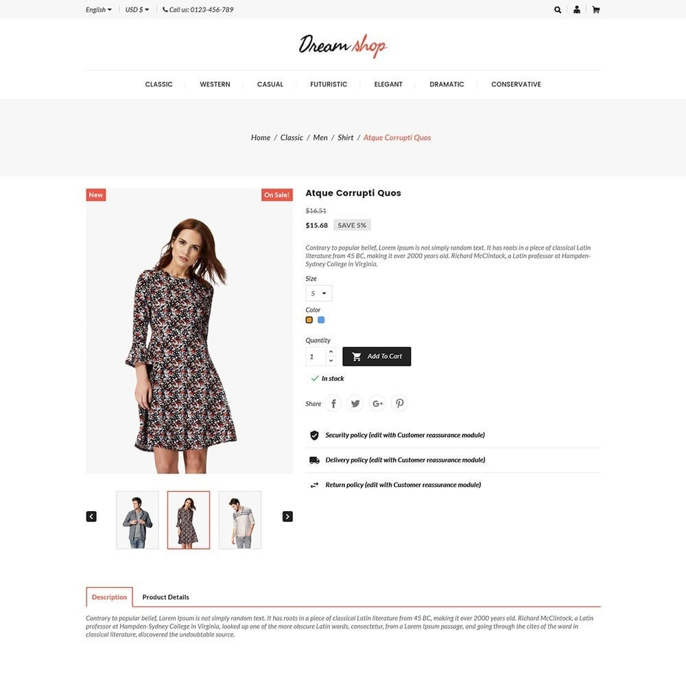 theme - Moda y Calzado - Dreamshop - Fashion Online Store - 5