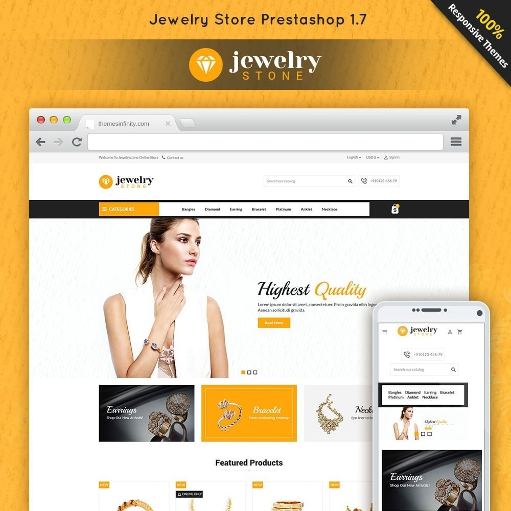 theme - Jewelry & Accessories - Jewelrystone - Jewelry Online Store - 1