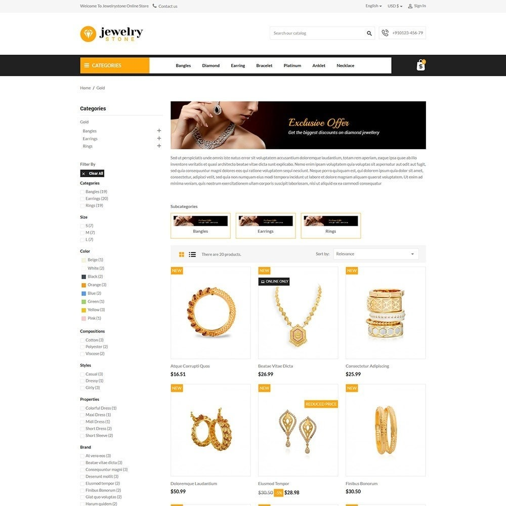 theme - Jewelry & Accessories - Jewelrystone - Jewelry Online Store - 3