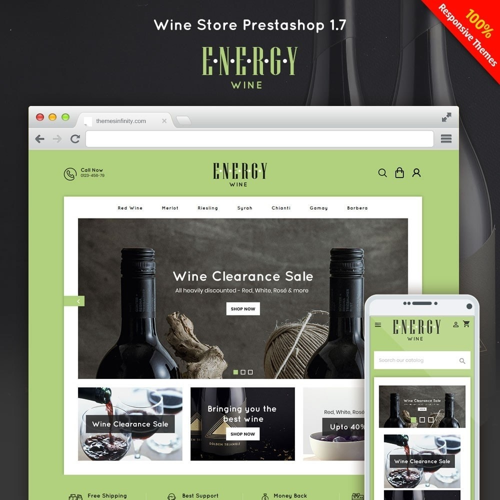 theme - Boissons & Tabac - Energywine - Wine Online Store - 1