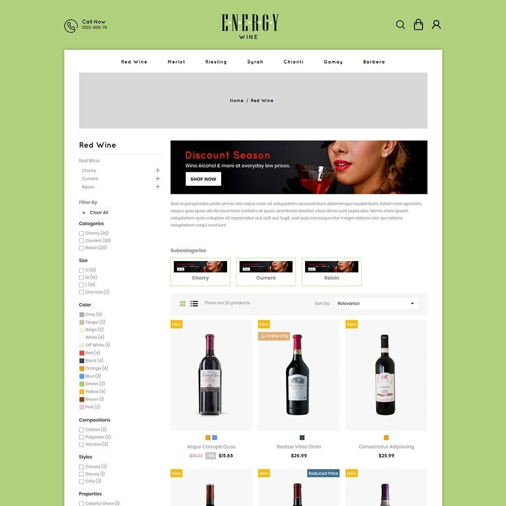 theme - Boissons & Tabac - Energywine - Wine Online Store - 3