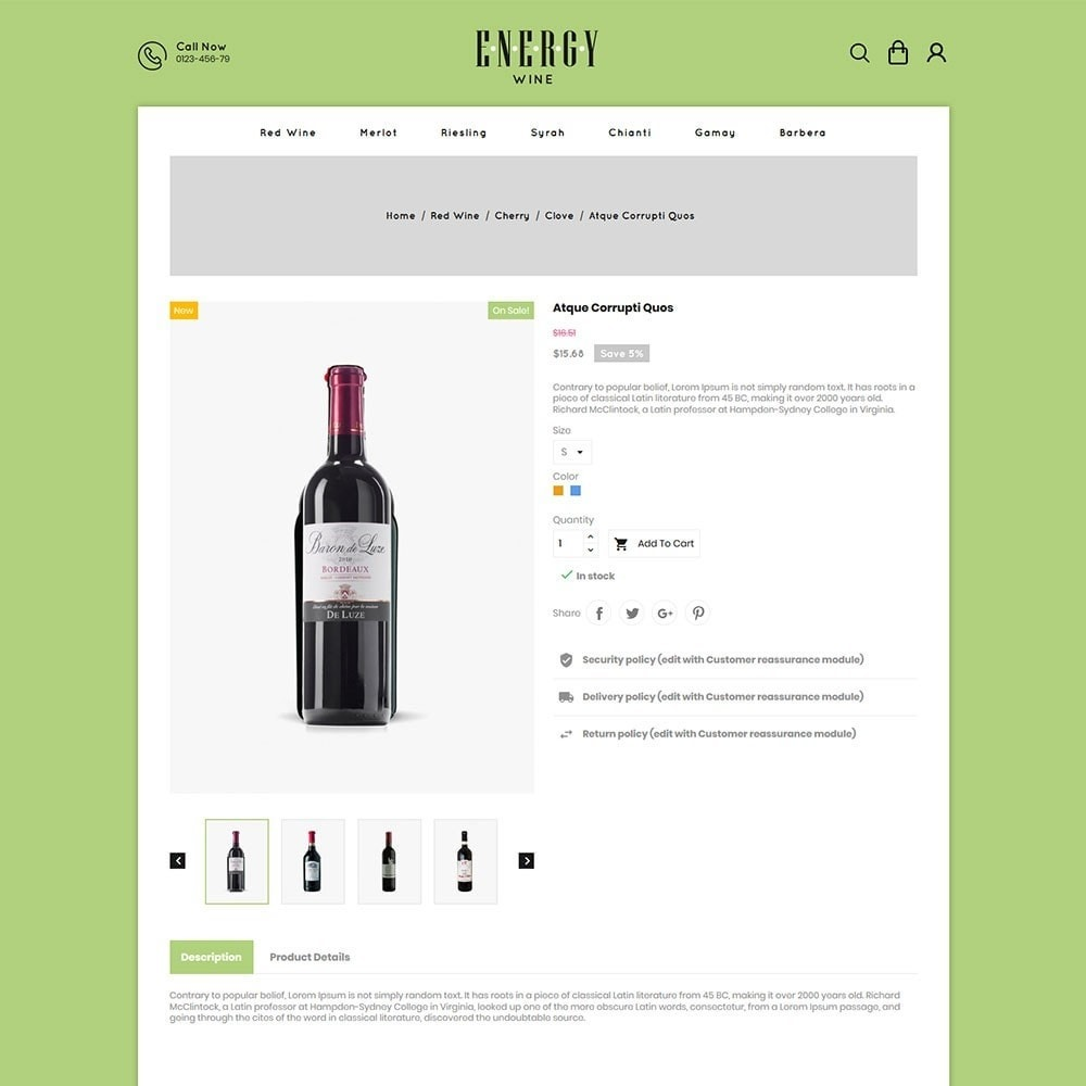 theme - Boissons & Tabac - Energywine - Wine Online Store - 5