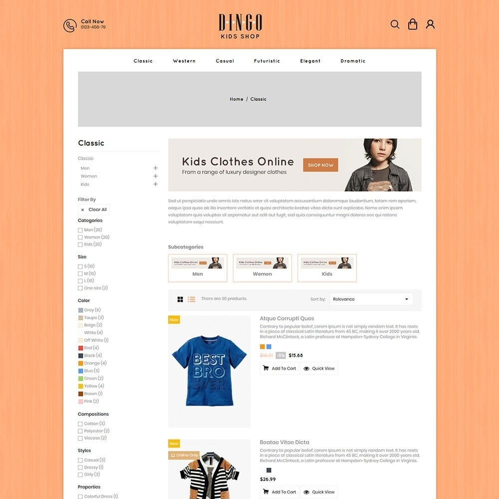 theme - Дети и Игрушки - Dingo - Kidswear Online Store - 4