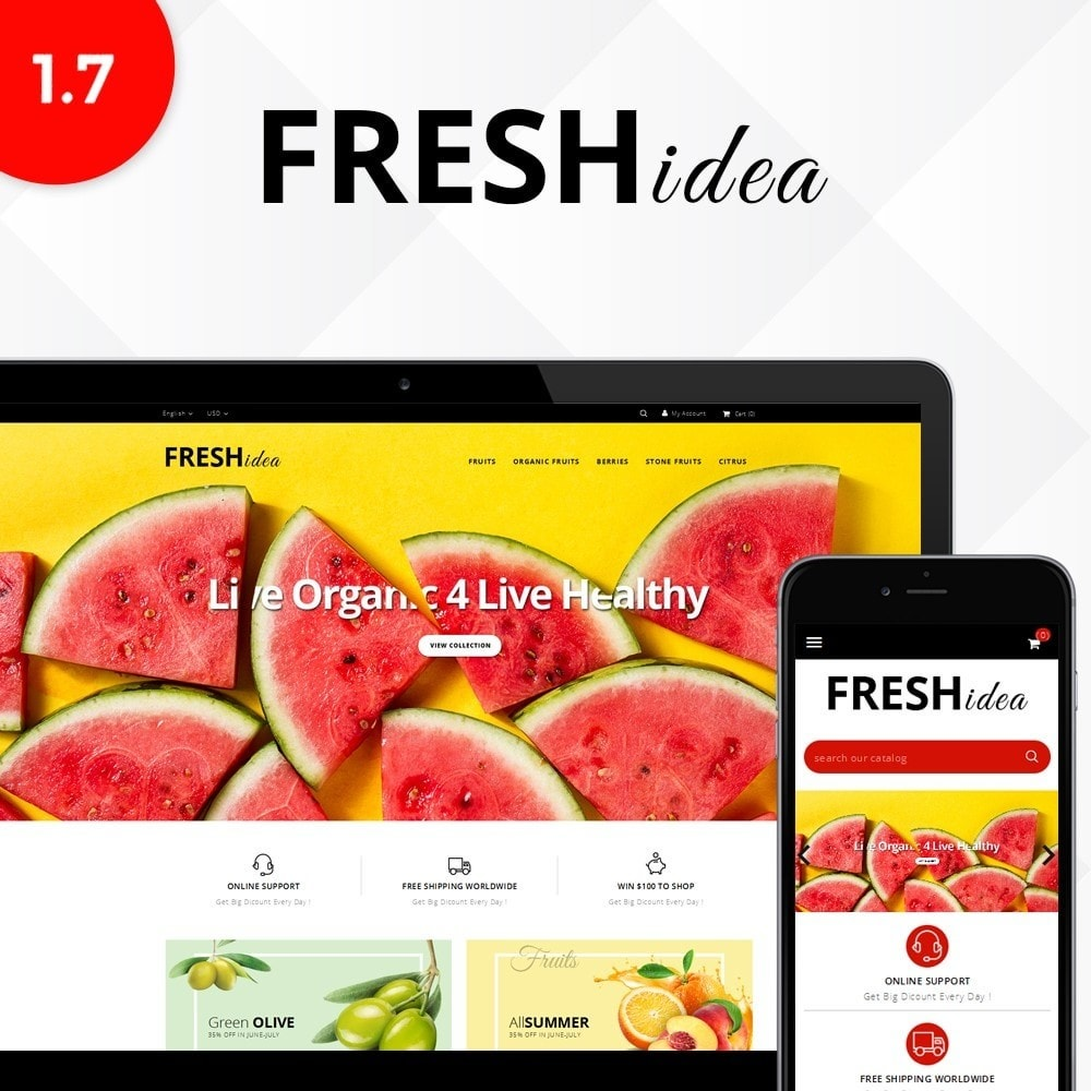 theme - Alimentos & Restaurantes - Fresh Fruit Store - 1