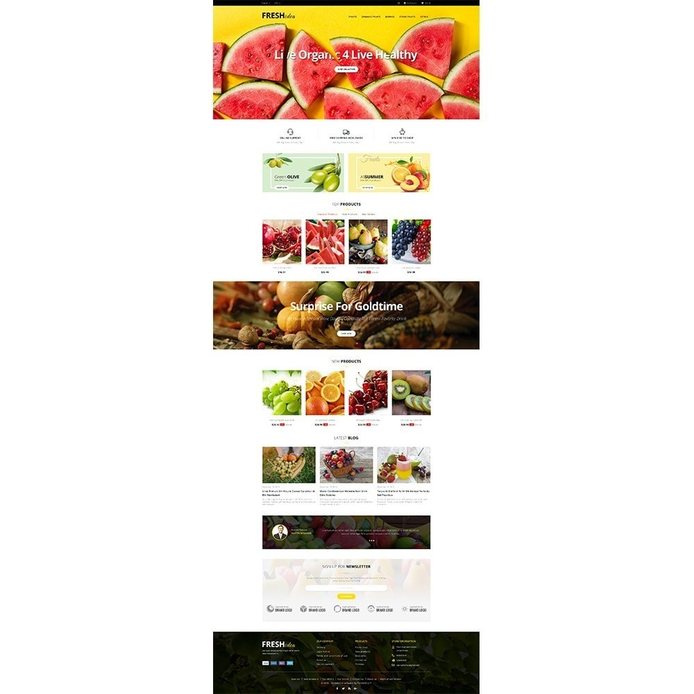 theme - Alimentos & Restaurantes - Fresh Fruit Store - 2