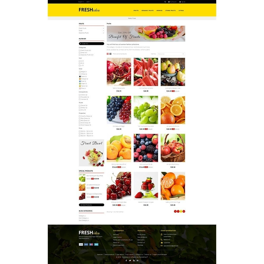 theme - Alimentos & Restaurantes - Fresh Fruit Store - 3
