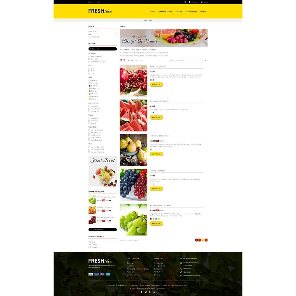 theme - Alimentos & Restaurantes - Fresh Fruit Store - 4