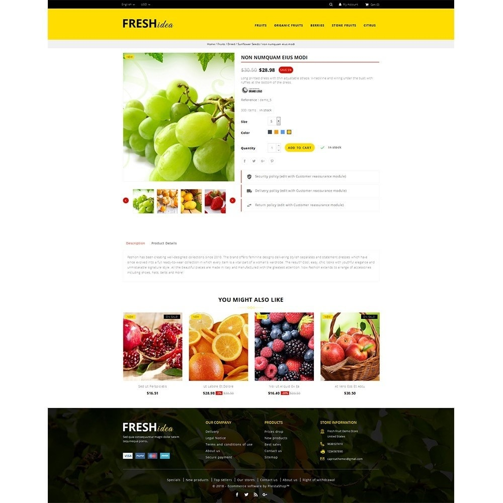 theme - Alimentos & Restaurantes - Fresh Fruit Store - 5