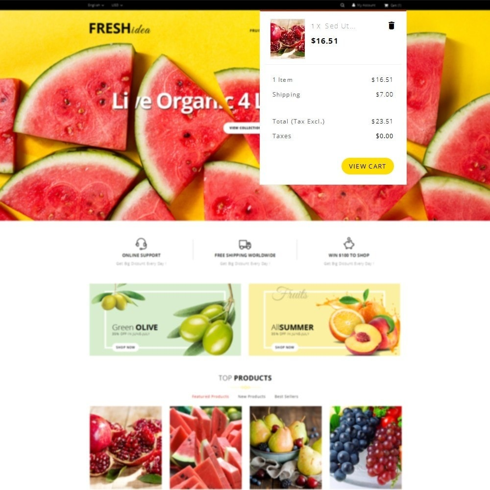 theme - Alimentos & Restaurantes - Fresh Fruit Store - 8