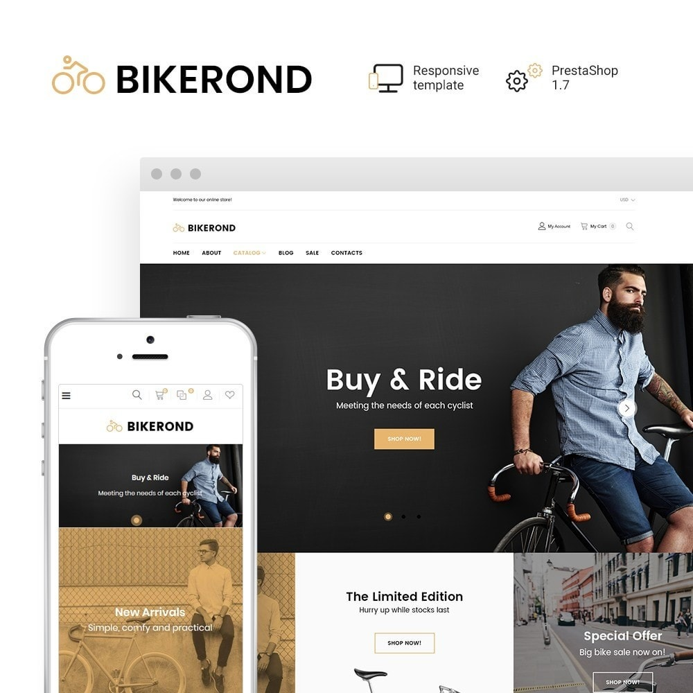 theme - Sports, Activities & Travel - BikeRond - Bike Shop - 1
