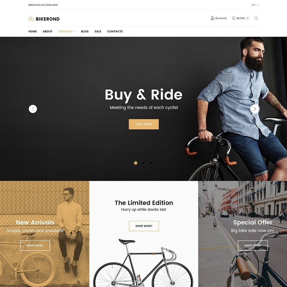 theme - Sports, Activities & Travel - BikeRond - Bike Shop - 2
