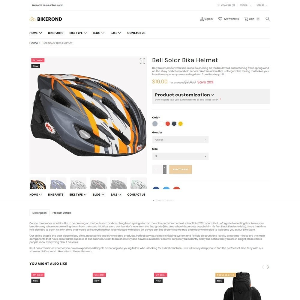 theme - Sports, Activities & Travel - BikeRond - Bike Shop - 6