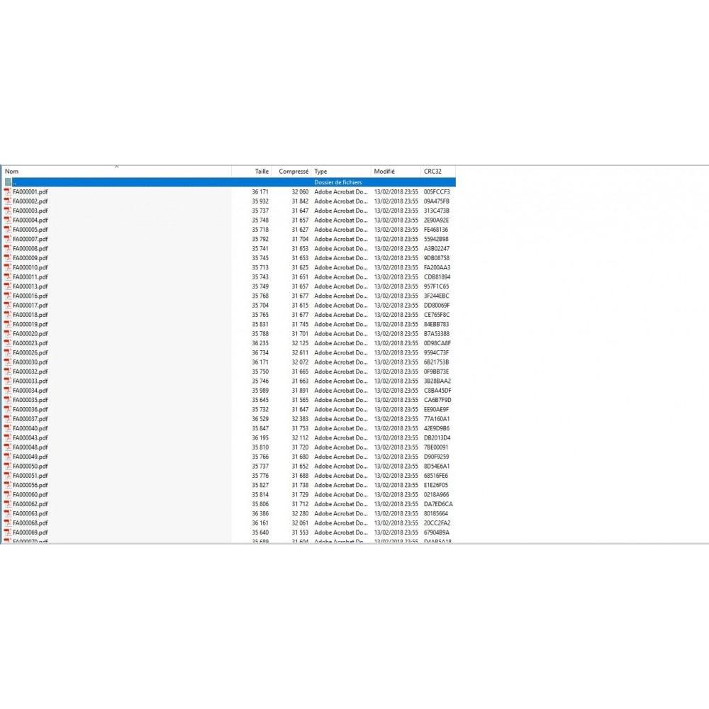 module - Comptabilité & Facturation - Export de factures multiples PDF en archive ZIP - 2