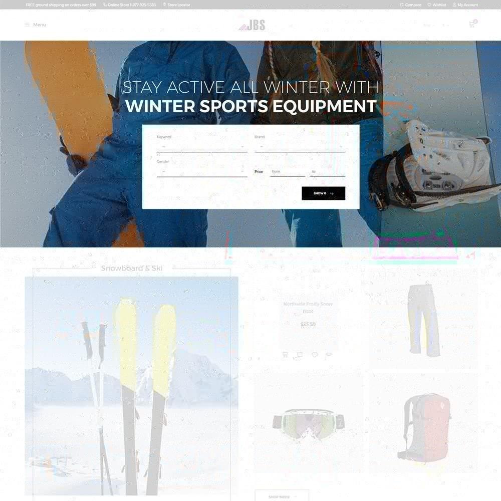 theme - Desporto, Actividades & Viagens - JBS - Winter Sports Equipment - 3