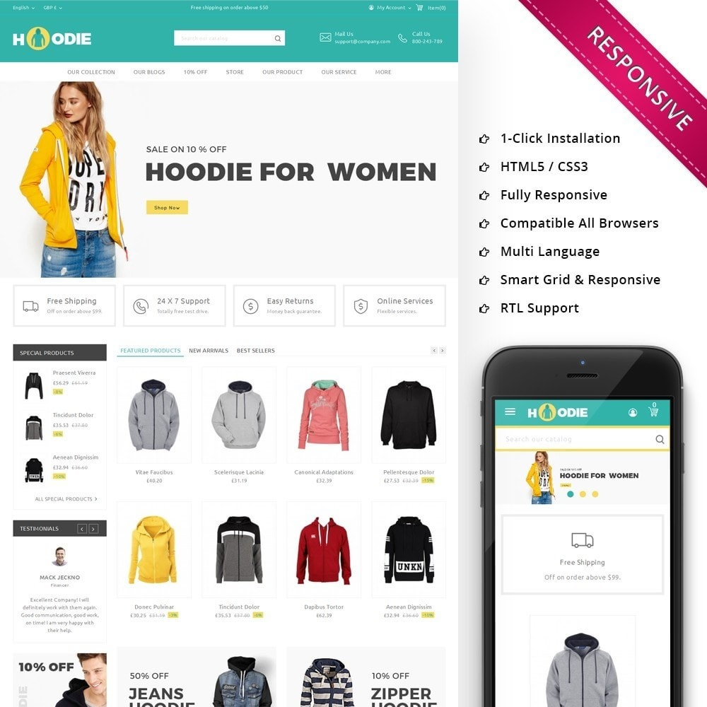 theme - Mode & Schuhe - Hoodie Fashion Store - 1