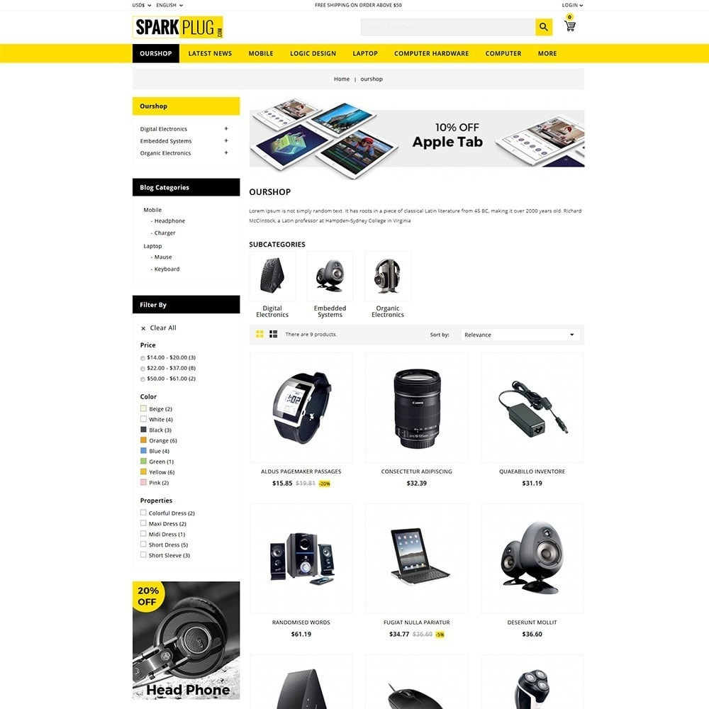 theme - Electronics & Computers - Sparkplug - Electronic Store - 4