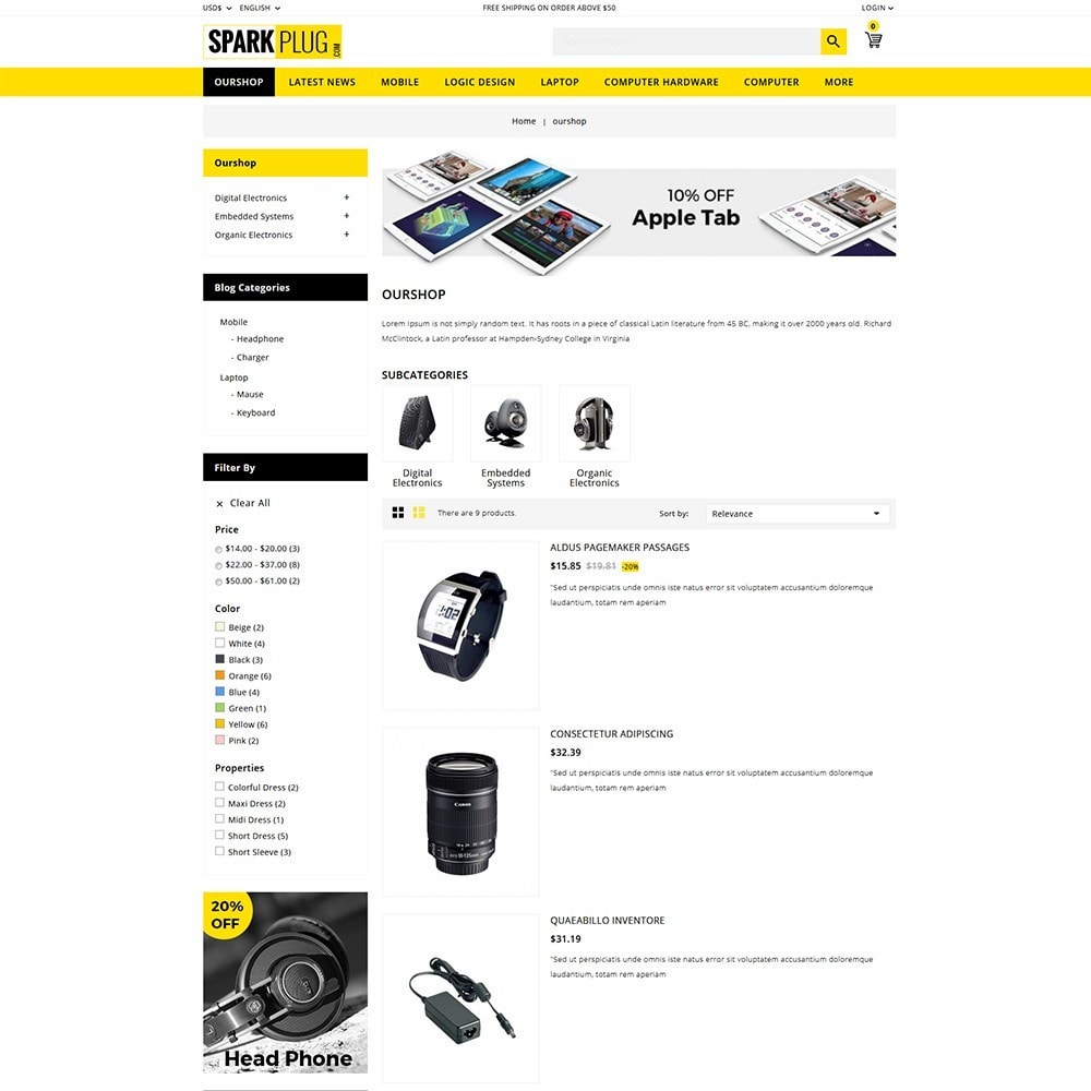 theme - Electronics & Computers - Sparkplug - Electronic Store - 5